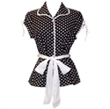 Picture of 50's Rockabilly Polka Dot Top JR Plus Size